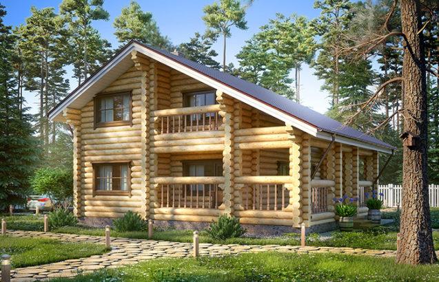 Wood home