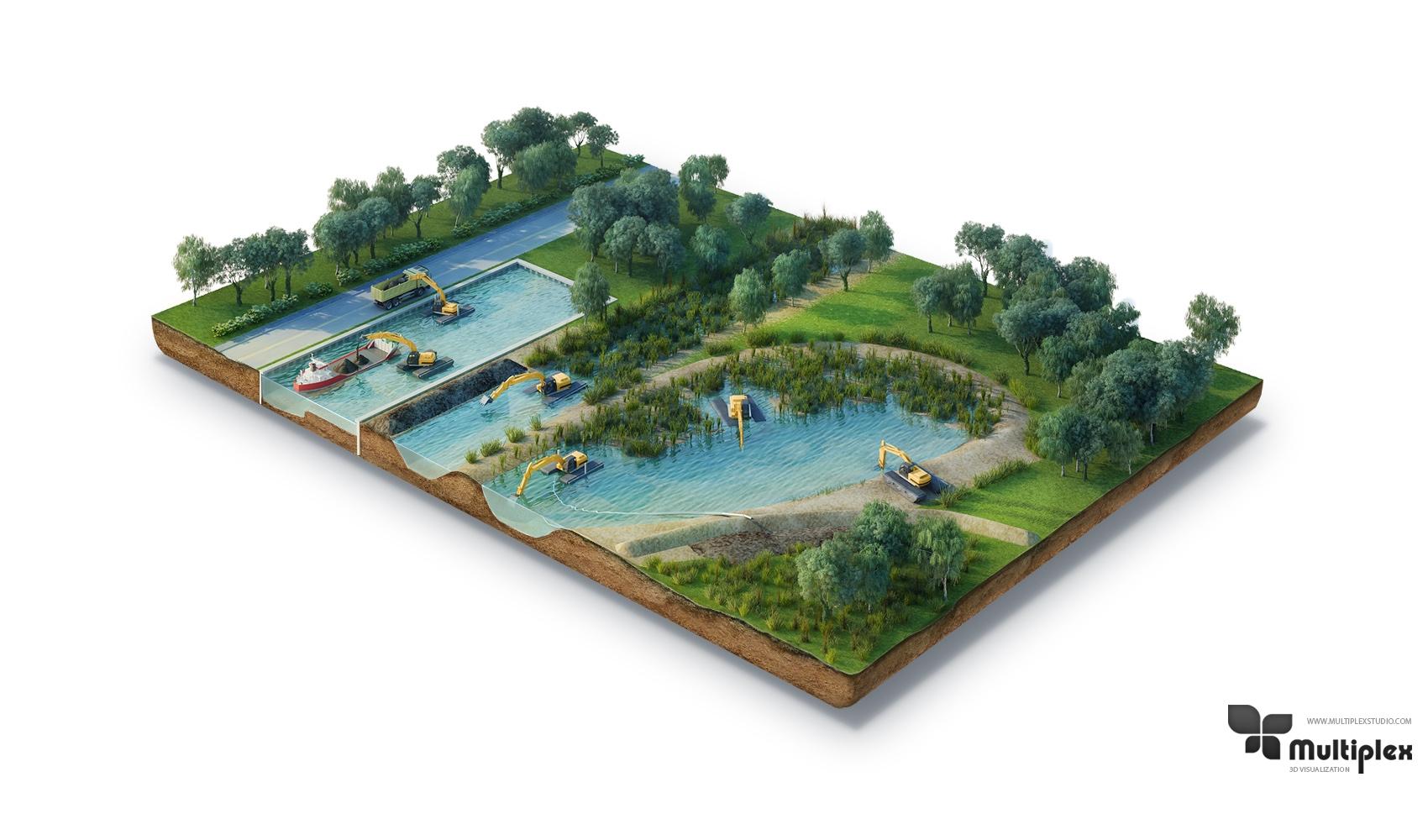 3D Island render
