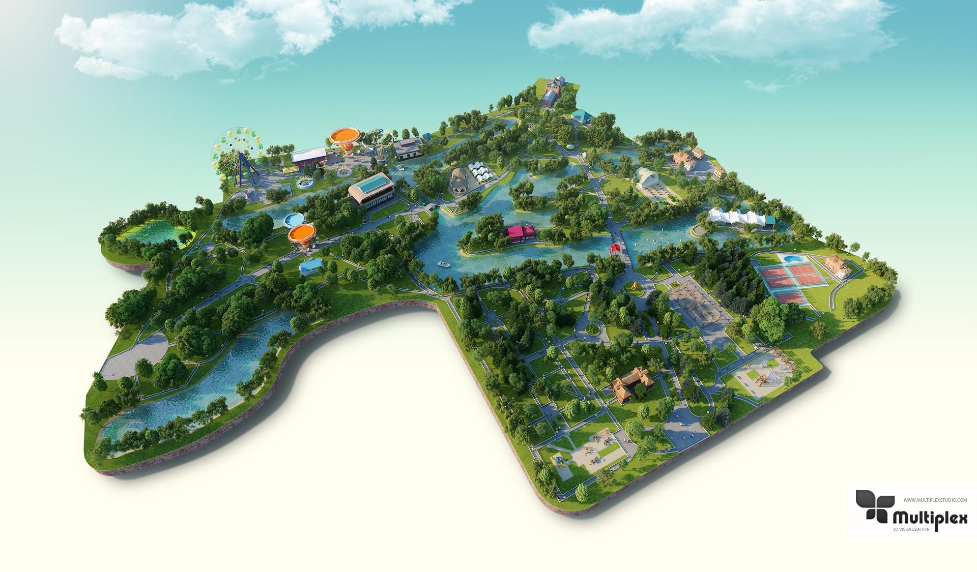 Park 3d render