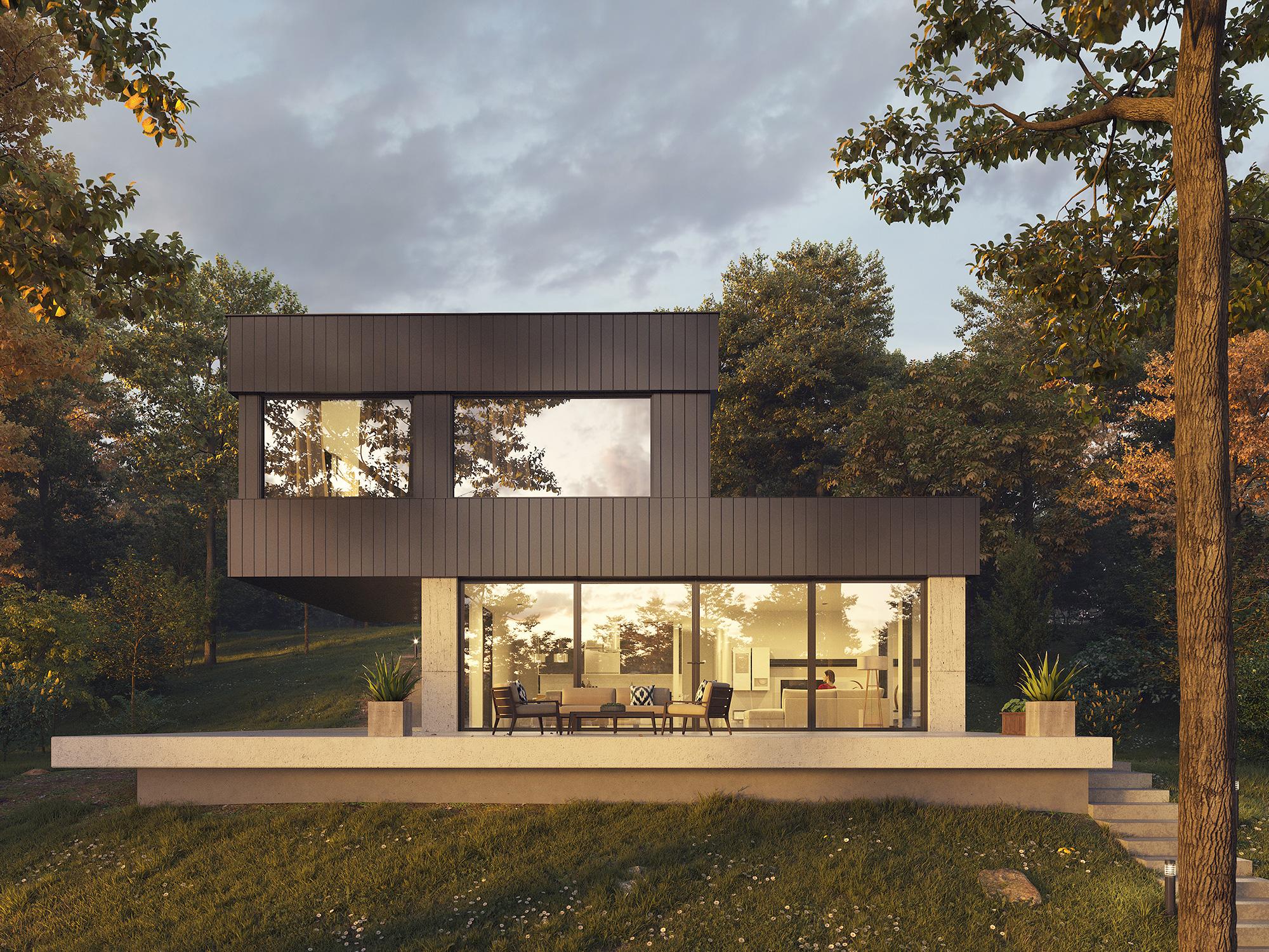lake house 3d visualization3