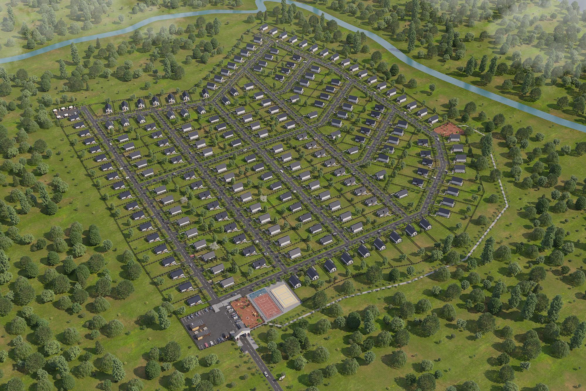 Визуализация коттеджного посёлка в Уфе