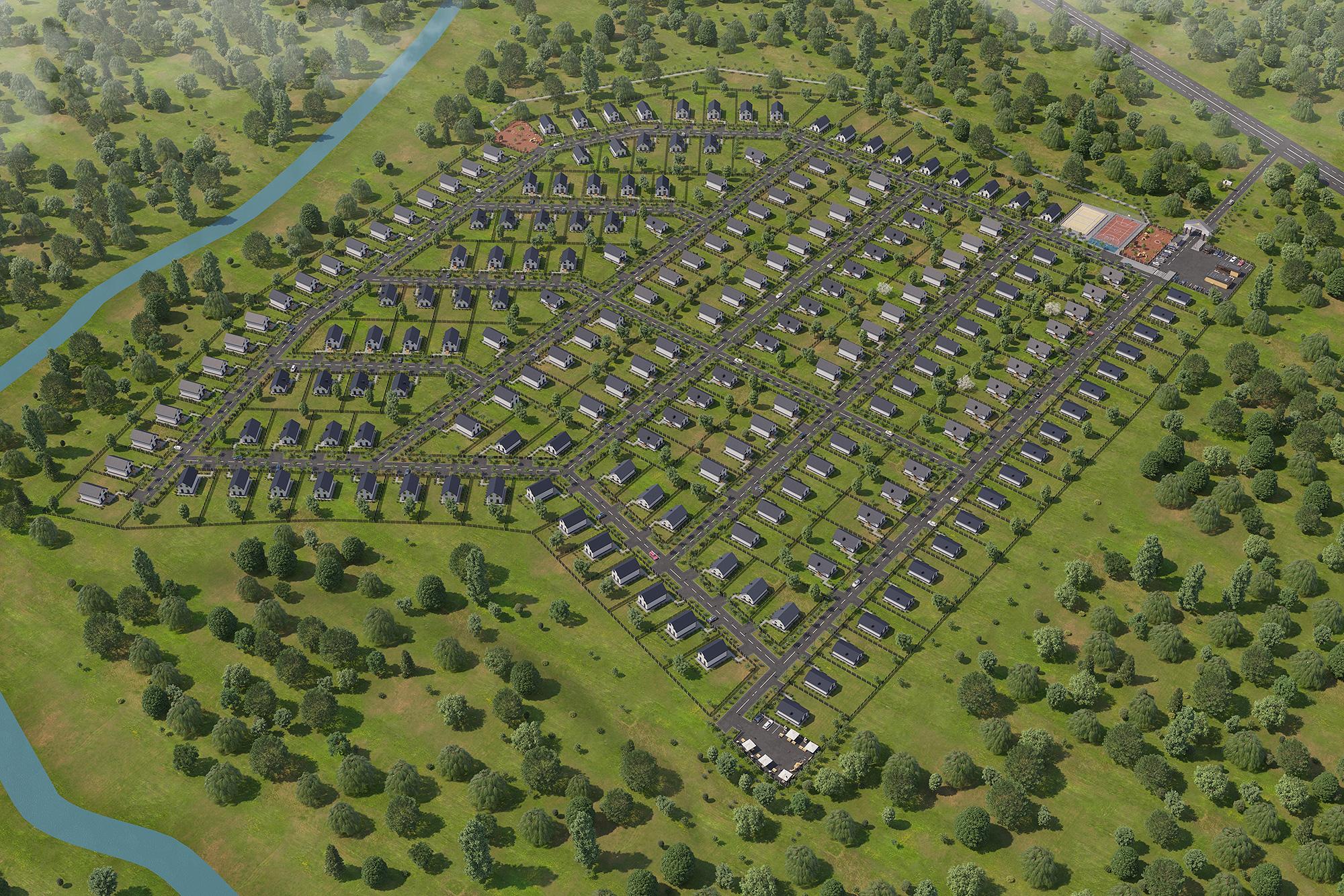 Визуализация коттеджного посёлка в Уфе 2
