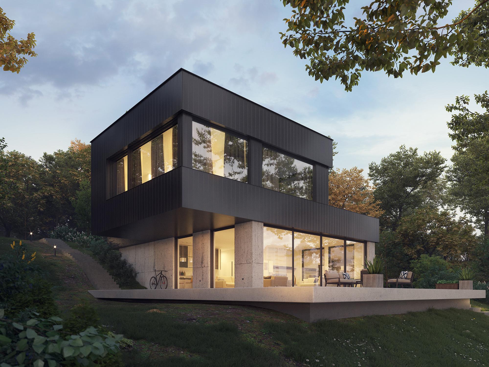 lake house 3d visualization