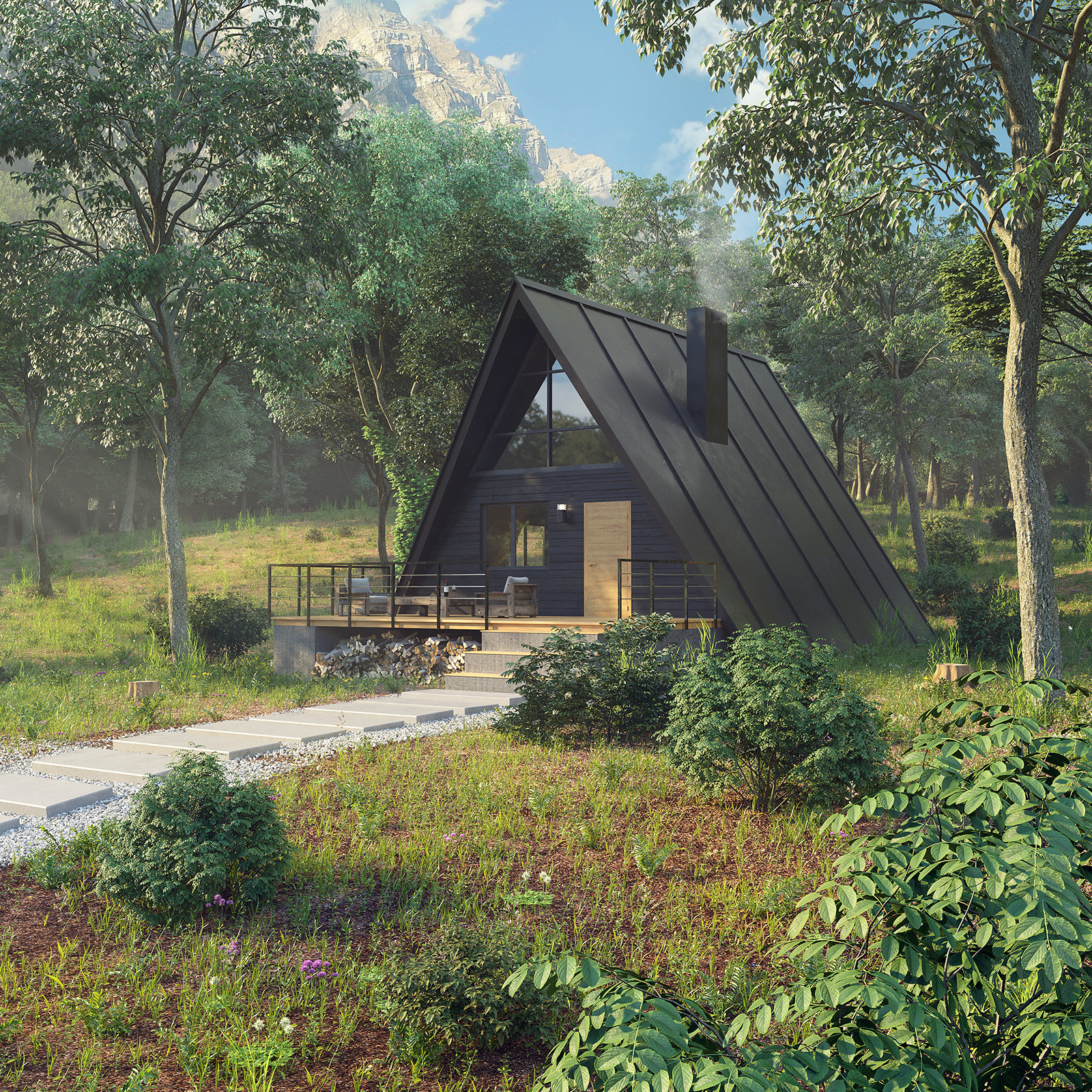 Forest house visualization