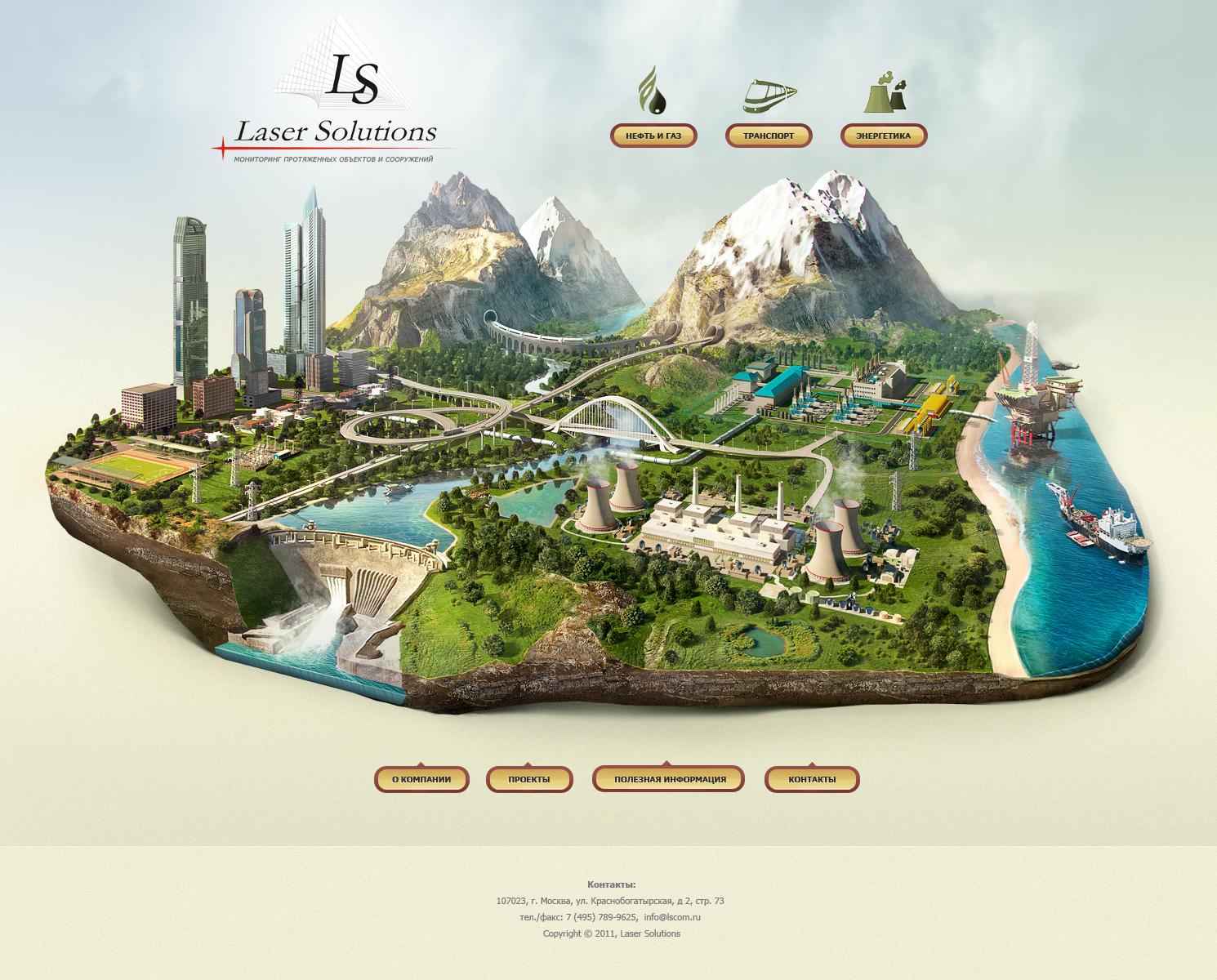 3D illustration island buisenes